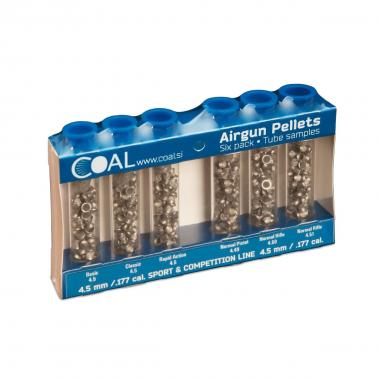 KIT Pellets/Diabolo Sport cal. 4,5 mm / .177 - 6 Provette COAL